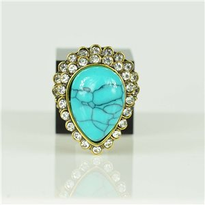 Bague Strass réglable Doré Full Strass New Collection 78565
