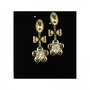 1p Strass Earrings Golden Ears Charm Collection 65918