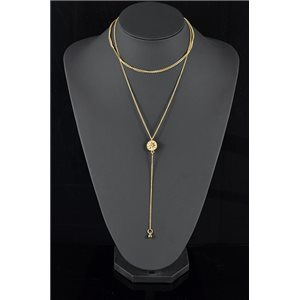 Collier Sautoir Triple Rang métal Doré New Collection 78575