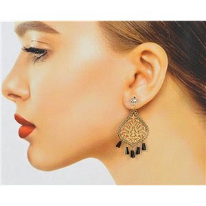 1p Filigree Zircon Stud Earrings and Tassels New Collection 78766