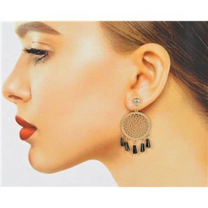 1p Filigree Zircon Stud Earrings and Tassels New Collection 78767