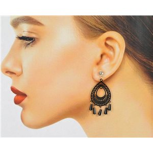 1p Filigree Zircon Stud Earrings and Tassels New Collection 78772