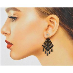 1p Filigree Stud Earrings Zircon and Tassels New Collection 78773
