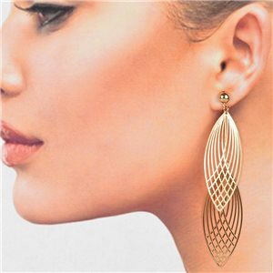 1p Filigree Golden Hook Earrings New Collection 78785
