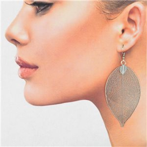 1p Filigree Silver Hook Earrings New Collection 78818