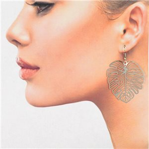 1p Filigree Silver Hook Earrings New Collection 78822