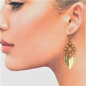 1p Filigree Golden Hook Earrings New Collection 78787