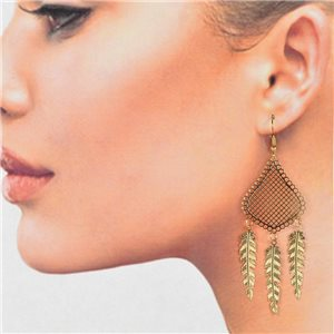 1p Filigree Golden Hook Earrings New Collection 78790