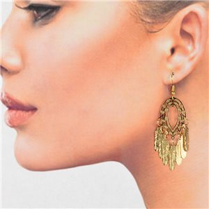 1p Filigree Golden Hook Earrings New Collection 78794
