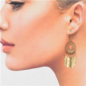 1p Filigree Golden Hook Earrings New Collection 78795