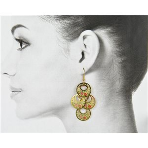 1p Filigree Golden Hook Earrings New Collection 78798