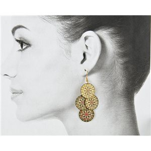 1p Filigree Golden Hook Earrings New Collection 78800