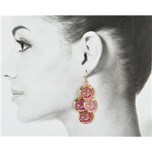 1p Filigree Golden Hook Earrings New Collection 78801