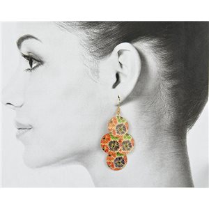 1p Filigree Golden Hook Earrings New Collection 78802