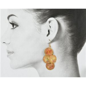 1p Filigree Golden Hook Earrings New Collection 78804