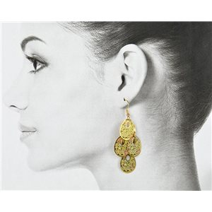 1p Filigree Golden Hook Earrings New Collection 78808