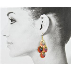 1p Filigree Golden Hook Earrings New Collection 78810