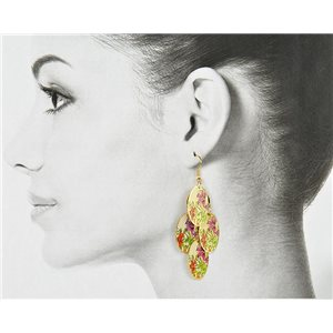 1p Filigree Golden Hook Earrings New Collection 78813