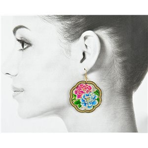1p Filigree Golden Hook Earrings New Collection 78829