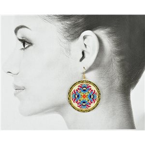 1p Filigree Golden Hook Earrings New Collection 78834