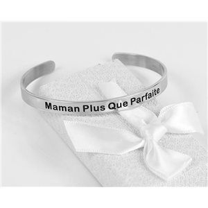 Message | Mom More Than Perfect | Stainless Steel Bangle 79421
