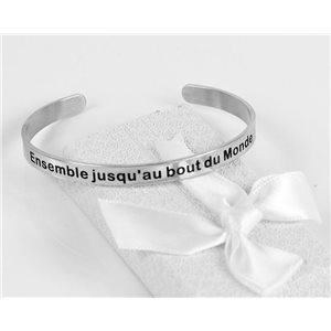 Message | Together to the end of the world | Stainless Steel Bangle 79430
