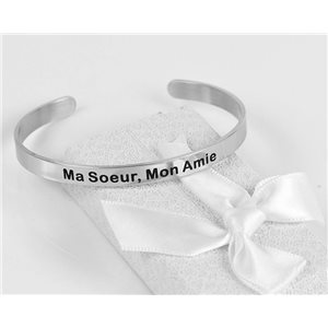Message | My Sister, My Friend | Stainless Steel Bangle 79428