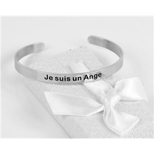 Message | I am an Angel | Stainless Steel Bangle 79419