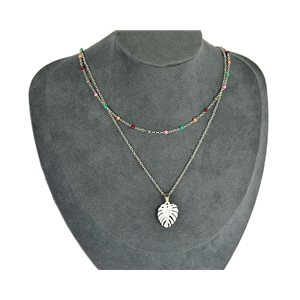 NEW Pretty Pendant Necklace on fine chain all in Stainless Steel 79436