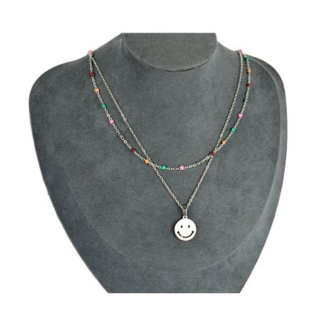 NEW Pretty Pendant Necklace on fine chain all in Stainless Steel 79438