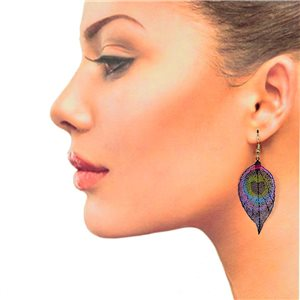 1p Filigree Hook Earrings Silver New Collection 78847