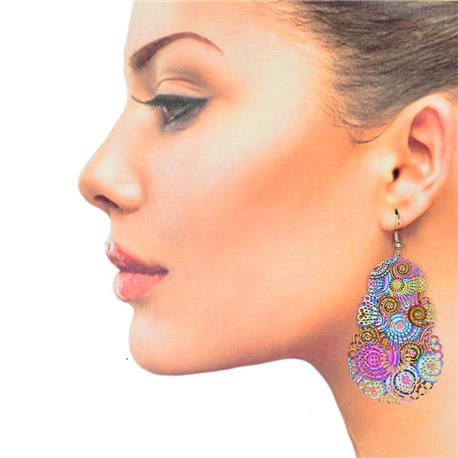 1p Filigree Hook Earrings Silver New Collection 78894