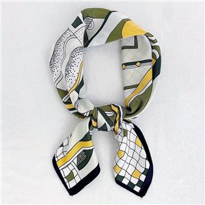 Square Satin Scarf 70 * 70cm in Polyester, silk effect touch - New Collection 79531