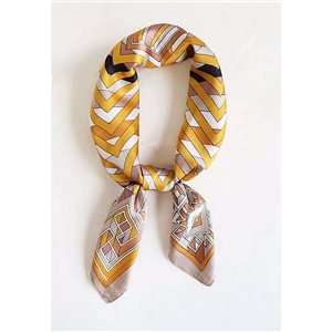 Square Satin Scarf 70 * 70cm in Polyester, silk effect touch - New Collection 79533