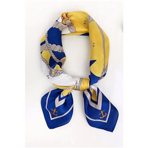 Square Satin Scarf 70 * 70cm in Polyester, silk effect touch - New Collection 79549