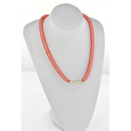 Collier Top Mode Resille Strass L55cm 64495