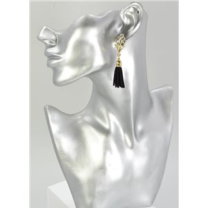 1p Strass Earring Collection Leather 68068