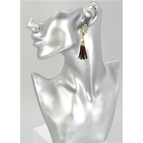 1p Strass Earring Collection Leather 68072