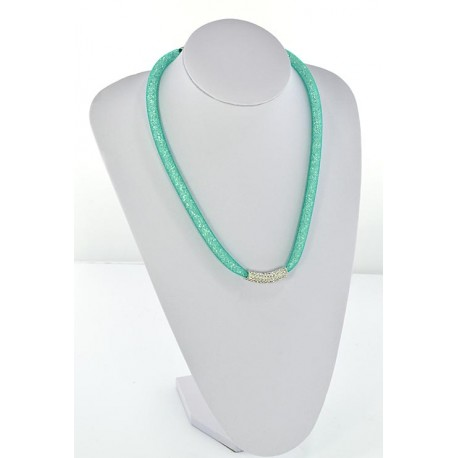 Collier Top Mode Resille Strass L55cm 64498