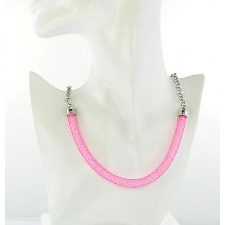 Top Fashion Necklace chain and Resille L48cm 64523