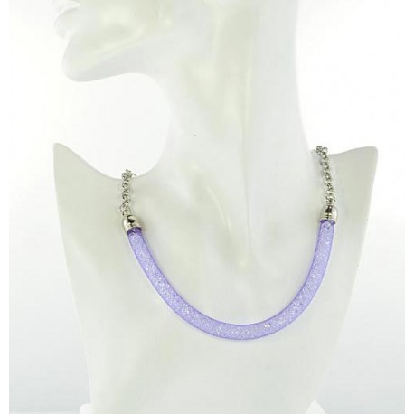 Top Fashion Necklace chain and Resille L48cm 64525