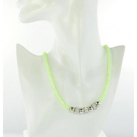 Necklace Top Fashion Fishnet and Strass magnetic clasp L50cm 64535