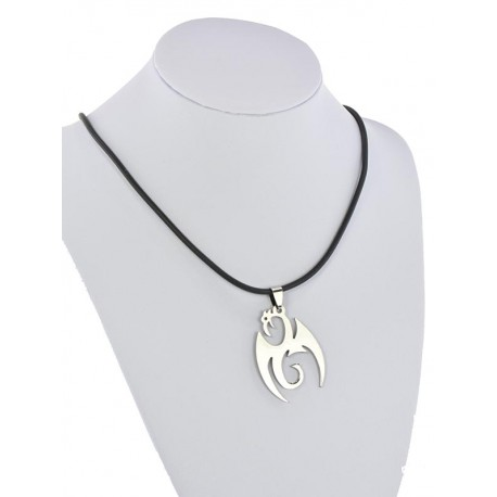 Pendant Necklace Stainless Steel on 64678 Silicone L50cm