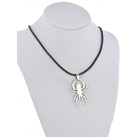Pendant Necklace Stainless Steel on 64683 Silicone L50cm