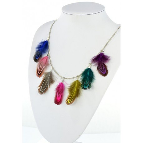 Collection Fashion Feather Necklace on chain L60cm 64701