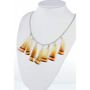 Collection Fashion Feather Necklace on chain L60cm 64705