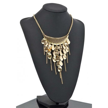 Collier métal doré Fashion Mode Chic L47cm 65335
