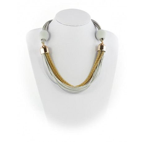 Summer Fashion Leather Necklace String-appearance on Channels L55cm 65615