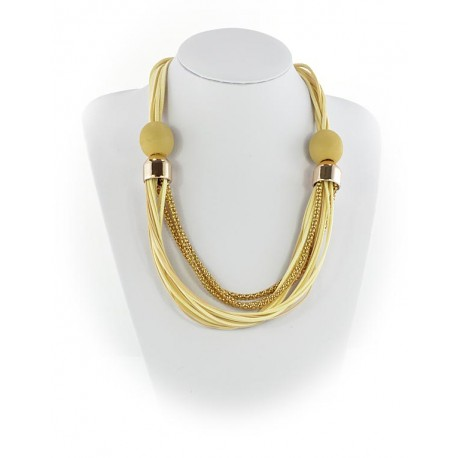 Summer Fashion Leather Necklace String-appearance on Channels L55cm 65618