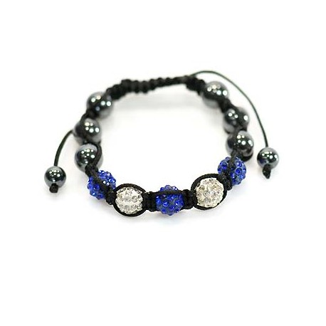 5 Adjustable Bracelet Rhinestone Balls Pierre 59063